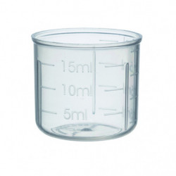 Measuring cup 20 ml PP28 alu.